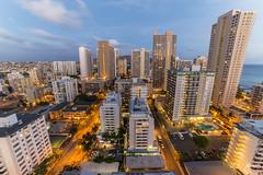 Waikiki - Balcony Views - Day to Night (jennchanphotography) Tags: city nightphotography travel tourism lights hawaii timelapse waikiki oahu balcony jennchanphotography