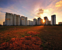 Between (night86mare) Tags: light sunset red sky singapore glow warmth punggol fujifilm hdb blend xt1
