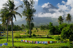 Laundry line. Mt Mayon (Laura Jacobsen) Tags: volcano philippines mayon bicol luzon mtmayon legaspi legazpi bicolandia mayonvolcano