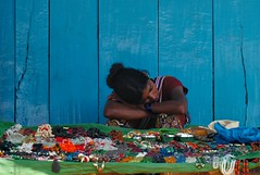 jewellery selling (travelben) Tags: street blue portrait woman india color shop collier necklace asia femme jewelry bijoux jewellery bleu asie gokarna asleep karnataka selling inde vente