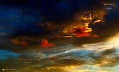 I COLORI DELL'ALBA (Salvatore Lo Faro) Tags: italy nature clouds canon italia nuvole alba blu natura giallo cielo rosso azzurro puglia rodi salvatore oro g16 lidodelsole lofaro