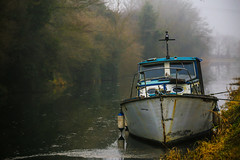 Remembrance of Dreams Past (Denis Moynihan) Tags: travel ireland mist water rain fog boat canal outdoor decay dreary dreams kildare sallins forgottem