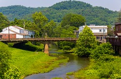 The Mighty West Fork River (Eridony) Tags: water river downtown westvirginia smalltown weston lewiscounty