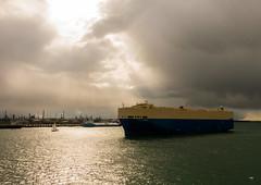 Southampton Water (Andy Latt) Tags: light sea clouds coast ship sony southampton fawley southamptonwater andylatt rx100m3 dsc01317r