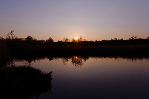 Sunset at the Wienberg Park over the Lake