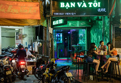 Bi Vin night (grapfapan) Tags: street city urban night streetlife vietnam nightlife saigon hochiminhcity sign