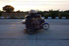 Tricycle on MacArthur Highway (huzu1959) Tags: sunset dawn phillipines tarlac rx100 dscrx100