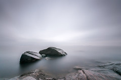 There is always hope (vesarautiainen) Tags: longexposure sea rocks calm movingclouds