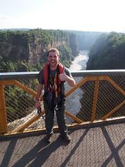 Giorgio did it and survived!! (little_duckie) Tags: africa zimbabwe bungy bungee zambezi bungyjump zambeziriver 111metres