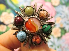 """Glass """"Agates"""" (dog.happy.art) Tags: agate vintage pin brooch jewelry collection agates collectible accessory"""