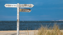 left or right..... (justdevine) Tags: beach coast seaside dorset signpost studland shellbay sthavenpoint