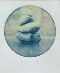 stacked (lydiafairy) Tags: film analog circle polaroid sx70 instant impossible roid packfilm aroundcampus roidweek springroidweek impossibleproject