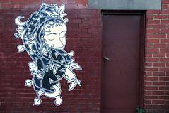 suki transport (tb_frbnk) Tags: streetart pasteup graffiti urbanart suki pastie handdrawn melbournestreetart sukiart allthoseshapes