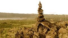 le cairn du Mont Batur  - 13 (Franois le jardinier de Marandon) Tags: bali cairn landart batur rockbalance indonsie franoisarnal