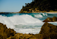 Between the rocks (jack eastlake) Tags: beach bay coast south valley far barrage bermagui bega cuttagee