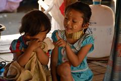 Pretty Karen girls (Isabel-Valero) Tags: travel people children thailand asia karen myanmar tribe
