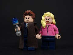 Doctor And Rose (MrKjito) Tags: david rose lego who 10 coat sonic tyler trench doctor minifig piper custom screwdriver tennant bille