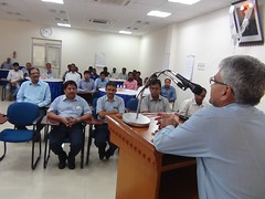 Mr. P. S. Rajamani, Whole-Time Director, Simpsons & Co. Ltd. addressing the SMEs during SCORE training in Chennai, India (ILO in Asia and the Pacific) Tags: india industrial employment working social seco dialogue relations conditions smes norad tripartism