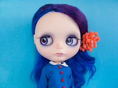 Violet Beauregarde (Helena / Funny Bunny) Tags: doll blythe custom violetbeauregarde rbl funnybunny solidbackground kaleidoscopekustoms