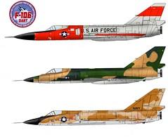 Y/F-106A/C Delta Dart (Ricos 2015) Tags: airplane military delta dart convair f106