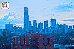 View of the city in HDR (Kobie M-C Photography) Tags: sky toronto ontario building colors architecture clouds buildings lights cityscape photographer pentax wideangle hdr k30