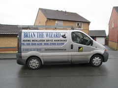 The Wizard's van. (aitch tee) Tags: vehicle van walesuk liveriedvehicles brianthewizard