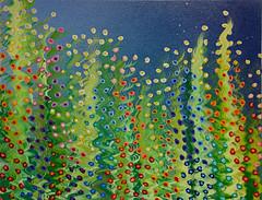 Midnight Garden (BKHagar *Kim*) Tags: flowers art floral gardens garden painting artwork paint artist acrylic mixedmedia growing oils bkhagar