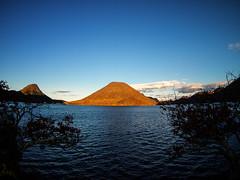 Lake Haruna and Mt.Harunasan (sonica@2006) Tags: from sky mountain lake japan is ancient worship it times haruna caught which gunma ultrawideangle epm1 bcl0980 mtharunasan