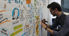 "@chriskem working on the ""visual minutes"" of the workshop (United Nations Volunteers (UNV) programme) Tags: corporate csr volunteerism"