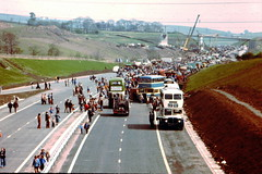M66 Open Day 1978. (moomooland1) Tags: bus bury motorway rossendale ramsbottom m66 greatermanchester northwestengland aecregent rochdalecorporation motorwayconstruction