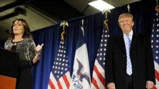 美国大选:莎拉·佩林宣布支持特朗普