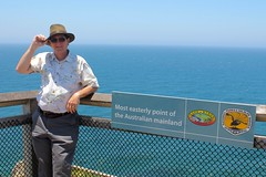 A Windy Spot (Piedmont Fossil) Tags: ocean mike sign pacific australia capebyron