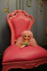 Little girl... (Primrose Princess) Tags: pink ballerina doll princess queen blythe takara tutu frenchfurniture customblythedoll pinkmohairreroot ooakcustomblythedoll dollydreamland dollythrone