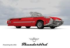 Ford 1961 Thunderbird Convertible (lego911) Tags: auto usa classic ford car america model lego yacht render convertible company land motor 1960s build thunderbird challenge v8 1961 cad tbird lugnuts 390 povray moc ldd rwd miniland 99th foitsop lego911