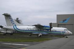 Avirex ATR-42-320 TR-LFS TLS 06/12/2004 (jordi757) Tags: nikon airplanes d100 toulouse blagnac tls avions aerospatiale atr42 avirex lfbo trlfs