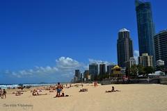 Surfers Paradise (Clare H Photography) Tags: blue sky people beach clouds buildings sand paradise australia brisbane surfers
