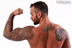 Nick Wagner (shoot 4) 024 (Violentz) Tags: shirtless portrait hairy man male guy model body muscle muscular bodybuilding fitness physique tattooed patricklentzphotography