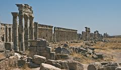 Säulen / Columns (schreibtnix on'n off) Tags: travelling reisen columns syria syrien säulen neareast naherosten apameia olympuse3 schreibtnix antikestätten antiquesites أفاميا