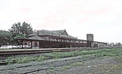 CNW Clinton Iowa Depot on August 12, 1964 (railfan 44) Tags: chicago northwestern