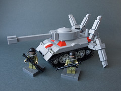 Tanatos - heavy mecha tank (crises_crs) Tags: soldier army robot tank lego future vehicle mecha zbudujmyto