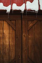 1.24.16 (Josh Meek) Tags: wood winter snow building ice nature weather vertical barn moody icicles tinroof snowpocalypse lookslikefilm
