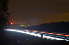 A1 highway night shot (ChemiQ81) Tags: road night lights highway motorway outdoor poland polska polish autobahn basin polen a1 polonia noc garb autostrada pologne  polsko  puola plland lenkija wiata pollando   poola poljska polija pholainn  zagbie dbrowskie bobrowniki dalnice     tarnogrski chemiq dobieszowice dabrova polanya lengyelorszgban