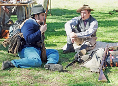 Civil War, Confederates 2-16 (inkknife_2000 (6 million views +)) Tags: 1800s civilwar abrahamlincoln americanhistory historicalreenactment periodcostume confederatetroops periodactors dgrahamphoto