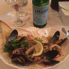 For Antipasti #PepatadellaLaquna #clams #mussels #shrimps #calamari #saute with #capers and #olives (mikeyes2) Tags: for with olives february mussels 06 saute clams shrimps capers calamari antipasti 2016 0753pm pepatadellalaquna