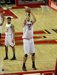Maryland Forward Michal Cekovsky takes a free throw. ((3.4 million views)) Tags: college basketball bowie big university state maryland ten ncaa bulldogs bsu terps terrapins b1g michalcekovsky varunram