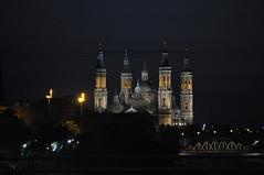Zaragoza de noche (Luis Gracia Pinilla) Tags: night noche y cloudy zaragoza clear covered nubes partly claros despejado cubierto