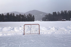 (Jean Arf) Tags: winter lake snow ice hockey frozen motel rink february wildwood adirondack adk lakeplacid 2015
