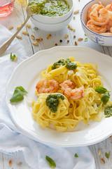 IMG_8751_exp (Helena / Rico sin Azcar) Tags: pasta basil pesto shrimps gambas albahaca