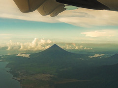 Mayon Volcano From Above (edwin.canlapan) Tags: sky clouds volcano philippines mayon albay mayonvolcano