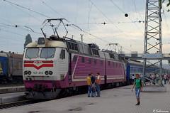 "UZ ChS7-316 (84 ""Azov"" Mariupol - Kiev), Mariupol, 2010/07/09. (lg-trains) Tags: ukraine ukrainian railways skoda uz mariupol  koda   donbass  7 chs7"
